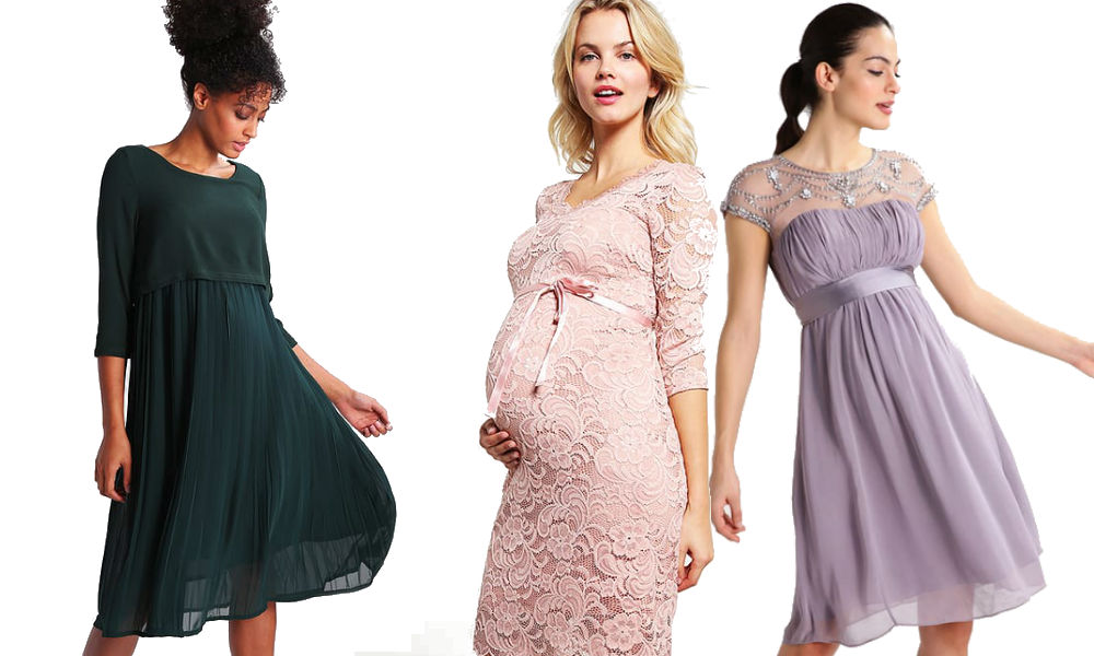 elegancka sukienka ciążowa na wesele
