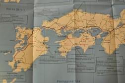 JR Pass - mapa połączeń pociągów typu Shinkansen w Japonii