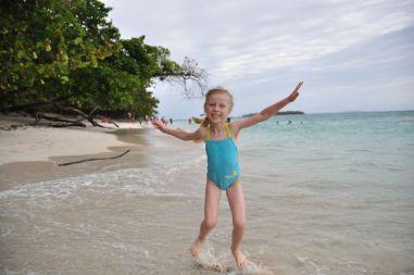 Oliwia prawdziwa radość na wyspie Zapatilla