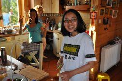 Lie Hsin w kuchni