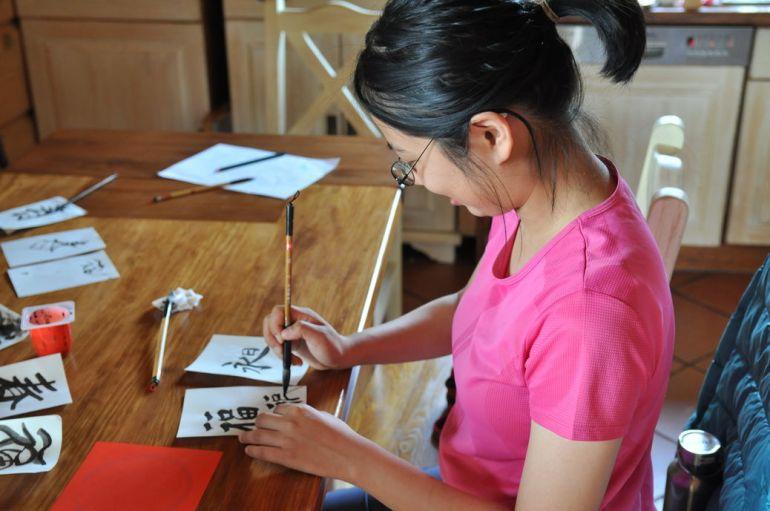 Li hsin uczy nas chińskiej kaligrafii