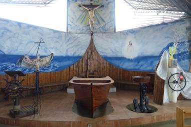 Prawdziwy rybacki kościół w Ekwadorze Puerto Lopez
