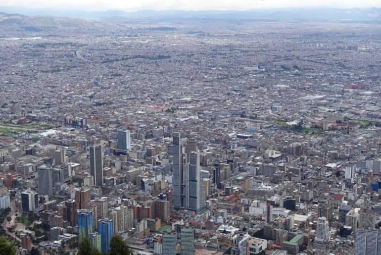 Bogota - widziana z góry Monserrat