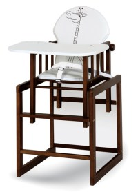 LARGE WOODEN HIGH CHAIR 3in1 - BABY - COMBINATION ...