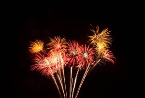 Hochzeitsfeuerwerk oder Feuerwerk zur Hochzeit