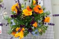 goblet of flowers