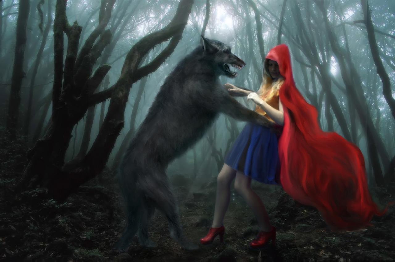 Rooikappie en die wolf