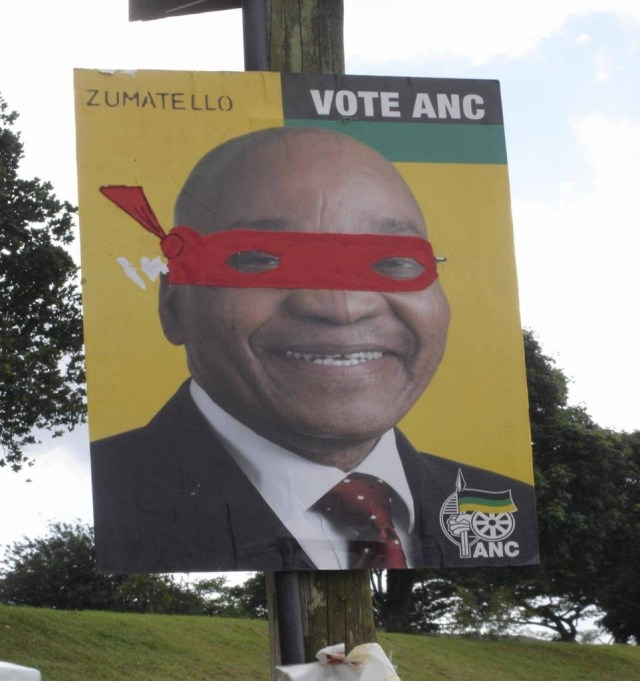 Jacob Zuma as 'n Teenage Mutant Ninja Turtle