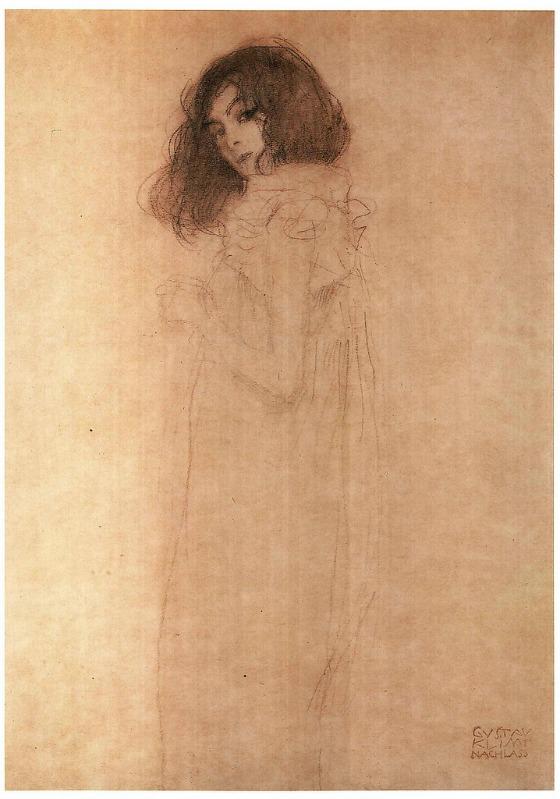 Portrait einer jungen Frau, Gustav Klimt
