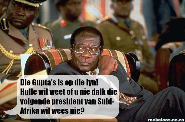 Die Gupta's is op die lyn! Hulle wil weet of u nie dalk die volgende president van Suid-Afrika wil wees nie?