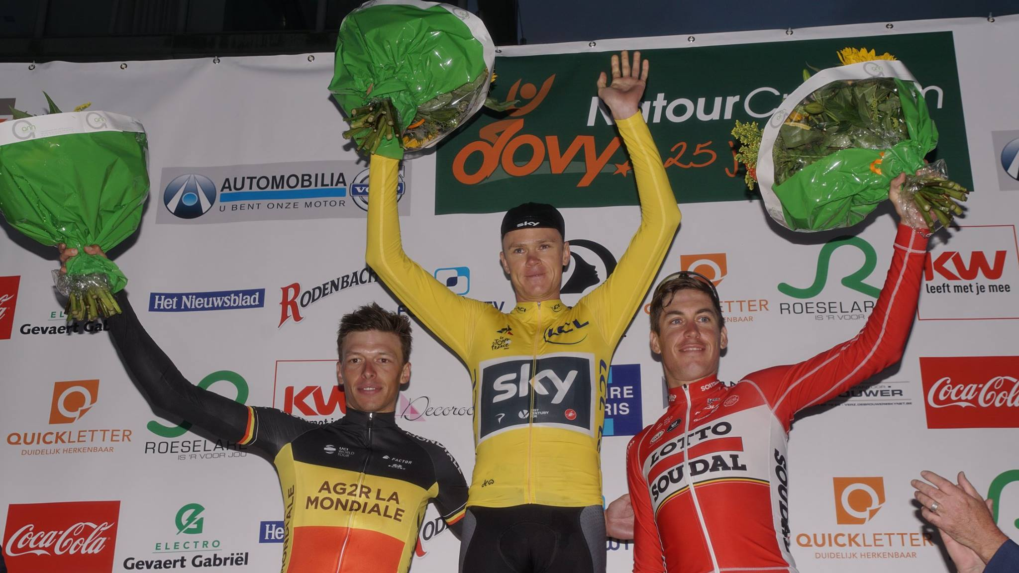 Chris Froome wint 8e na-Tourcriterium Roeselare in gele trui