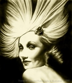 Marlene DietrichPencil on paper