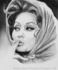 Sophia LorenPencil on paper