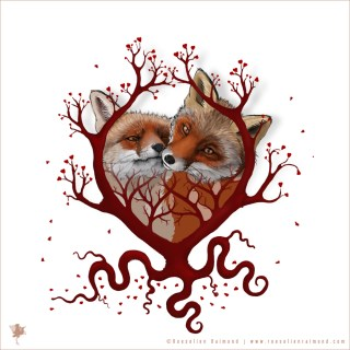 digital painting Illustration digital painting Illustration Foxy Love
