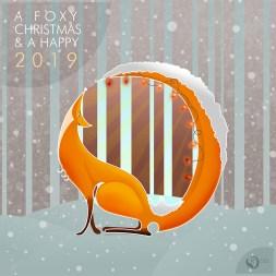 Christmas card fox