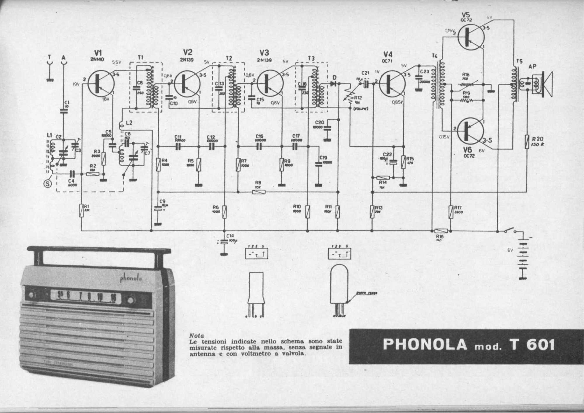 hight resolution of phonola mod t 601