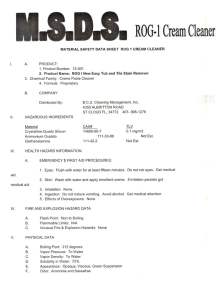 ROG 1 MSDS page 1