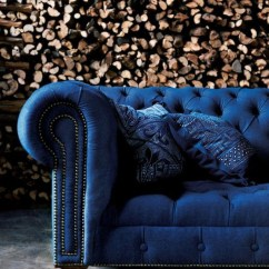 Blue Velvet Chesterfield Sofa How To Wash Seat Covers Best Sofas Blog Roger Chris Indigo Couch