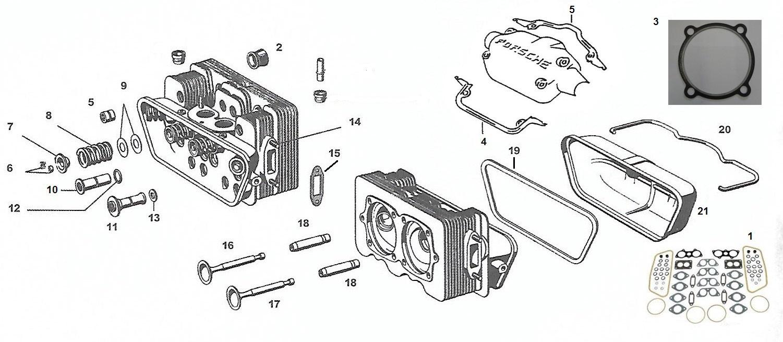 hight resolution of engine heads valves