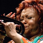 Alcione playing trumpet, may 2006.