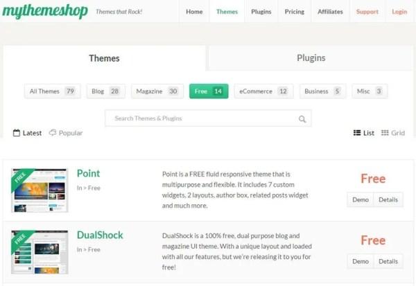 Best 10 WordPress Theme Websites