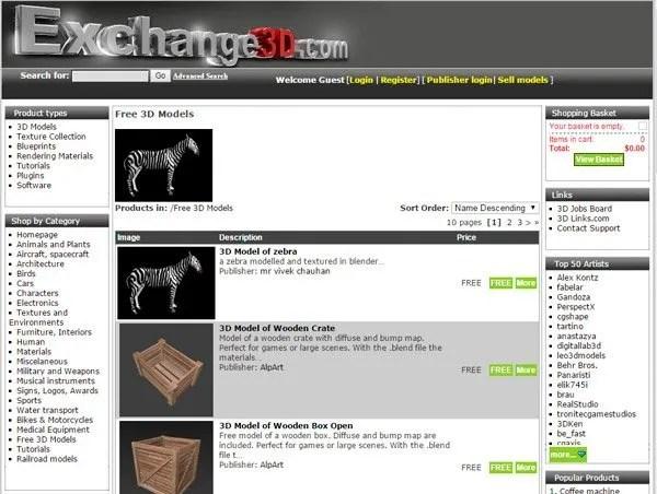 10 Best Websites to Download Free 3D Models | Rogerio da Silva Blog