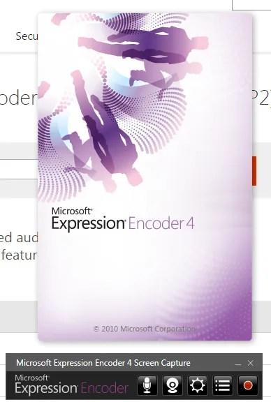 Microsoft Expression Encoder 4 Screen Capture