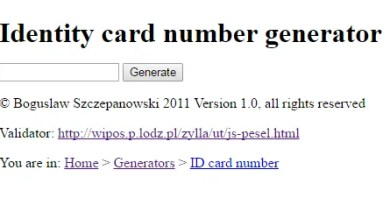 Polish Identity card number generator