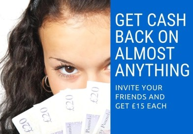 Earn £5 for free sign up plus £10 in Cash-Back