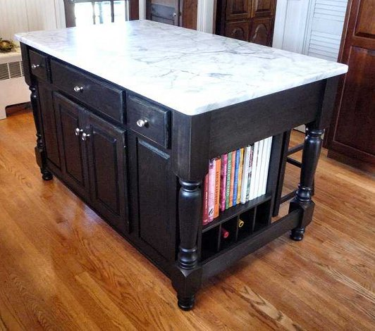 kitchen island marble top over sink light