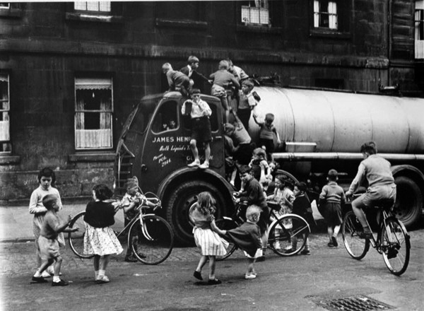 Boys on a Lorry, Cowcaddens, Glasgow 1958 by Roger Mayne