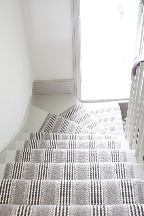 Interior Designers Love Roger Oates Runners Roger Oates Blog | Grey Herringbone Carpet Stairs | Antelope | Victorian | Middle Stair | Roger Oates | Blue
