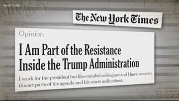 anoymous op-ed from the New York Times headline