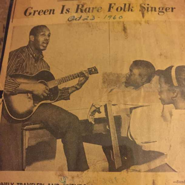 Les Green is rare folk singer
