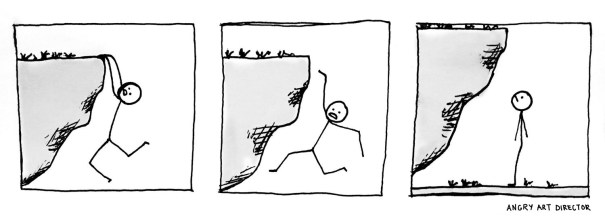 cliff hang