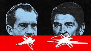Richard Nixon.Ronald Reagan