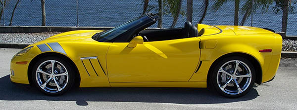2000 Corvette Convertible Yellow