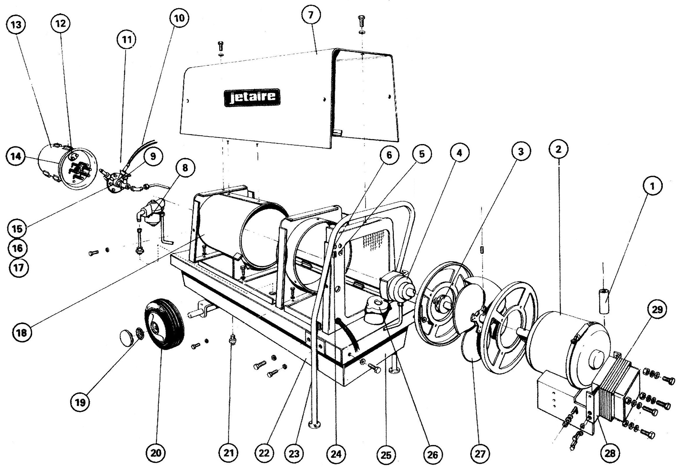 Jetaire D110m Exploded View