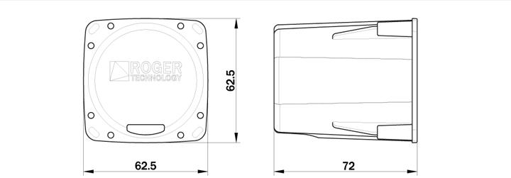 selector a llave de empotrar en aluminio con cilindro standard