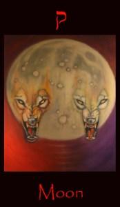 tarot moon,Major arcana tarot card Moon
