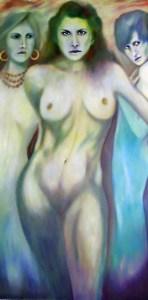 Tarot Queen of Water Queen of Cups. Femme Fatale Gallery Paintings,symbolic artist