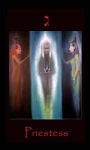 tarot high priestess, tarot cards, moon,