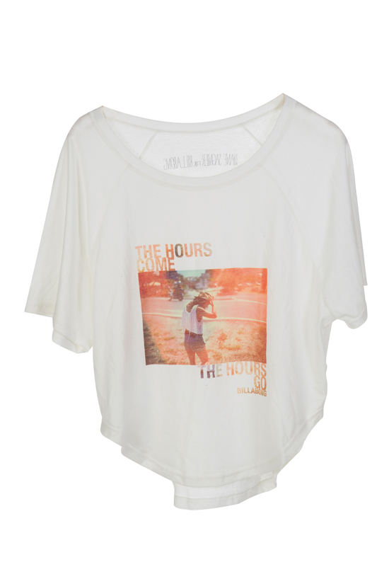 Rogue Mag Brands - Artist collab produces Diane Sagnier for Billabong Tees