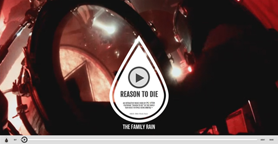"Rogue Mag Music - The Family Rain - ""Reason To Die"" - New interactive video!"