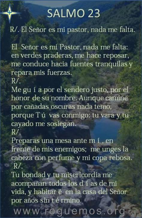 Tu eres mi pastor, nada me falta