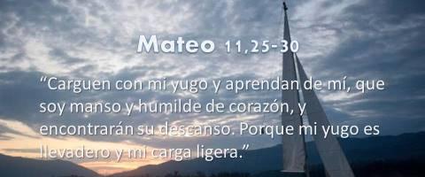 encontrarán su descanso – Mateo 11,25-30