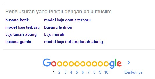 LSI keyword di google related search