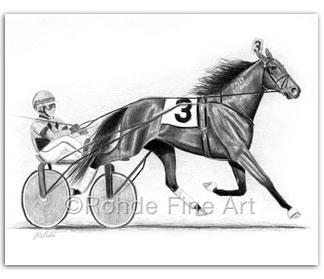 The Trotter : Standardbred Horse Art & Harness Racing Art