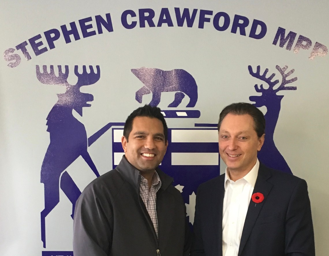 Meeting with Oakville MPP Stephen Crawford