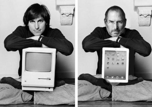 Steve Jobs then and now